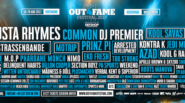 Out4Fame Line-Up